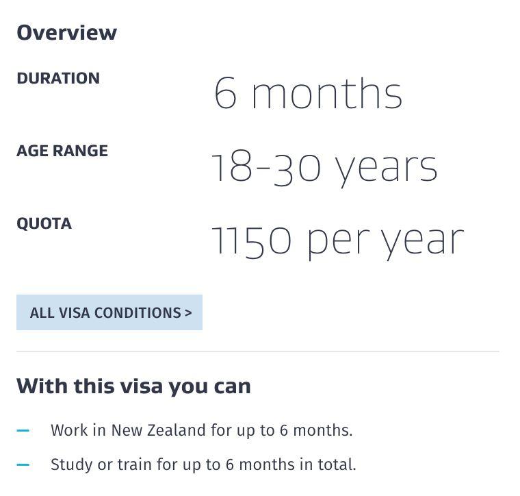 new zealand offer visa kerja atau belajar sambil bercuti untuk orang malaysia